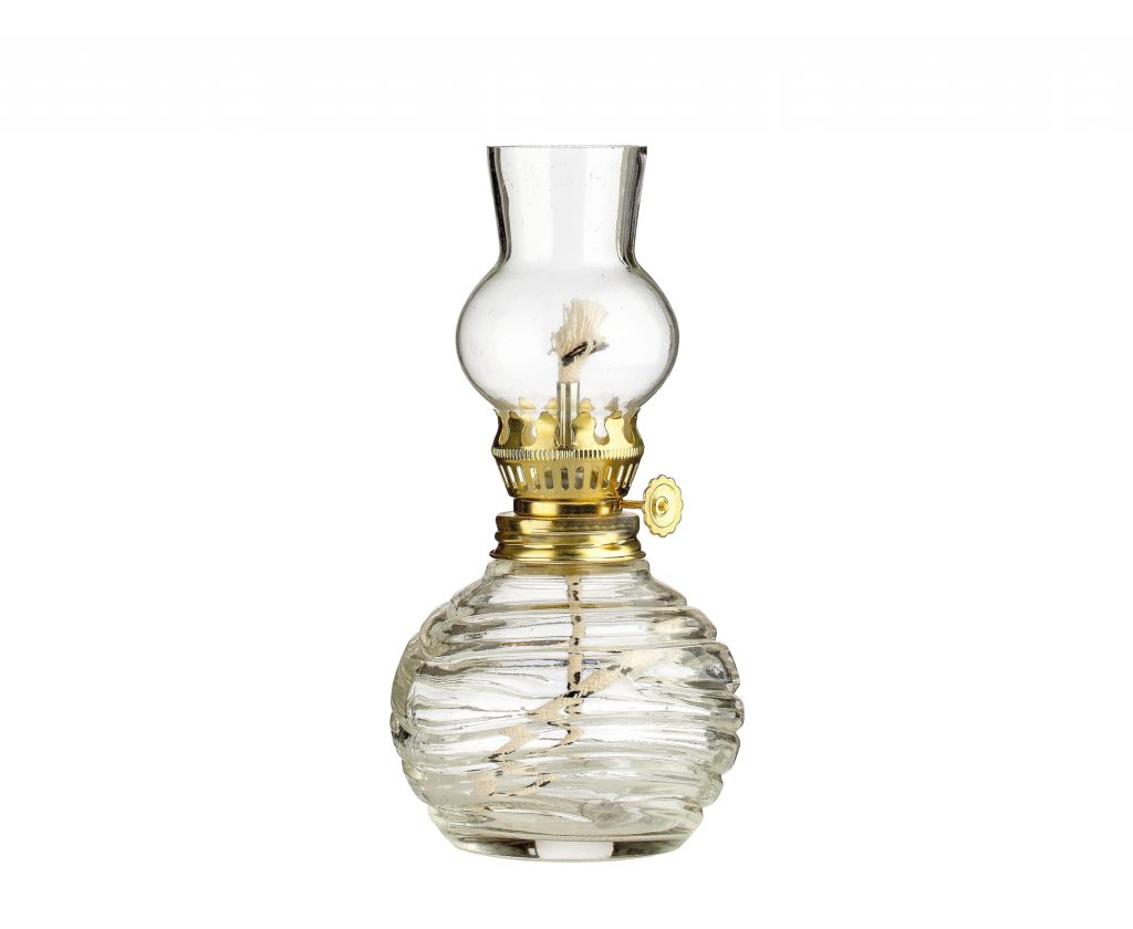 lampada vetro piccola trasparente - lampada per cera liquida