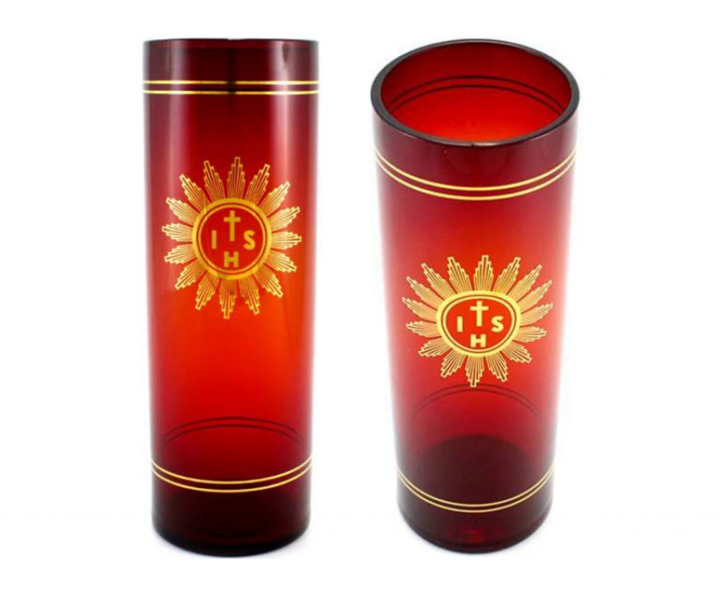 bicchiere in vertro santissimo