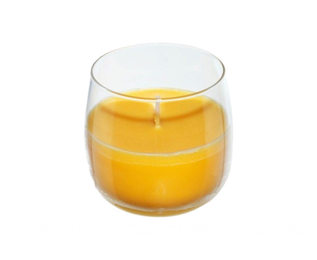 candela vetro limone