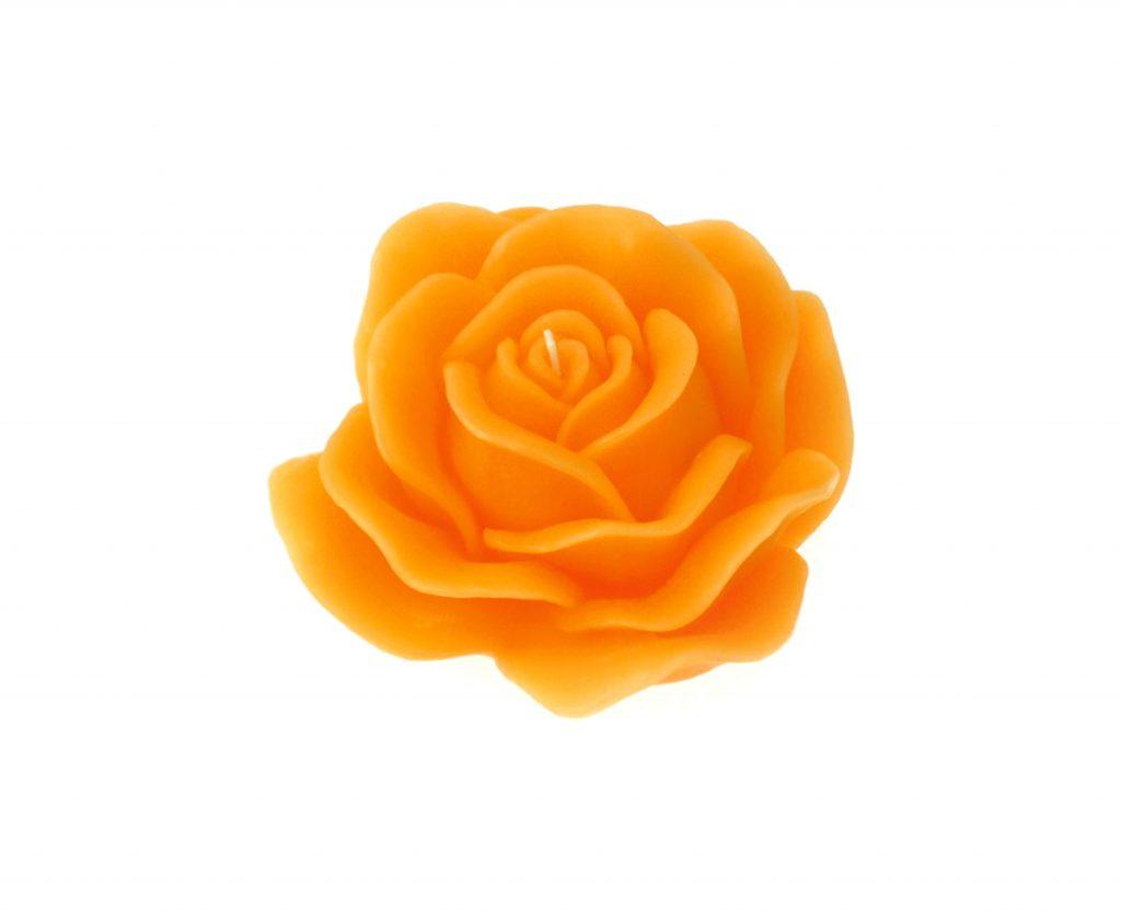 rosa profumata cera arancio