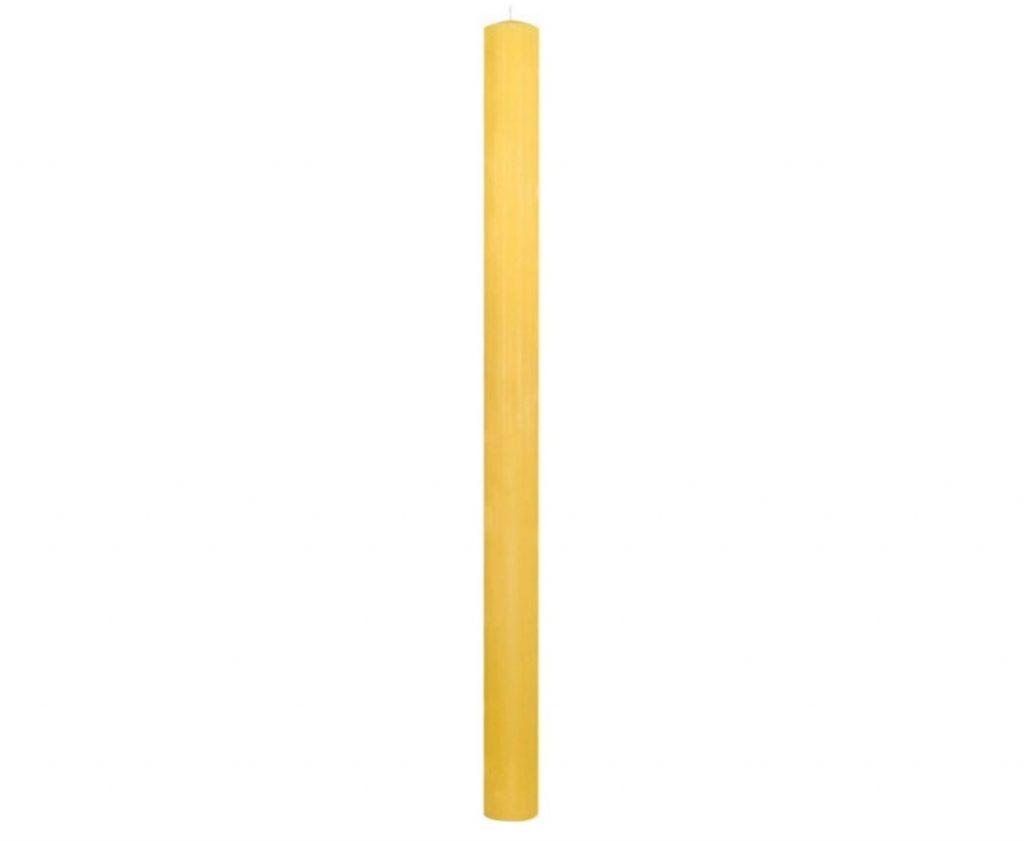 Cero pasquale in cera gialla senza decoro