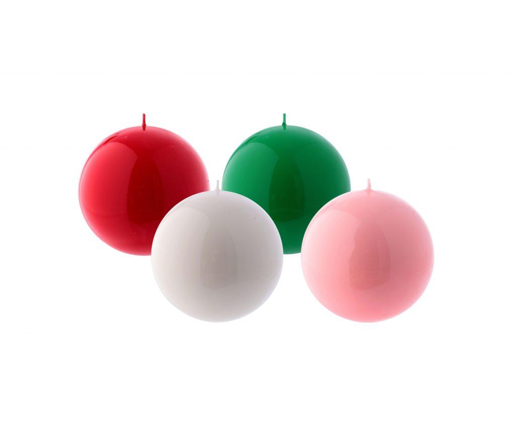 Sfera avvento diametro 10 cm viola rosa rosso bianco verde