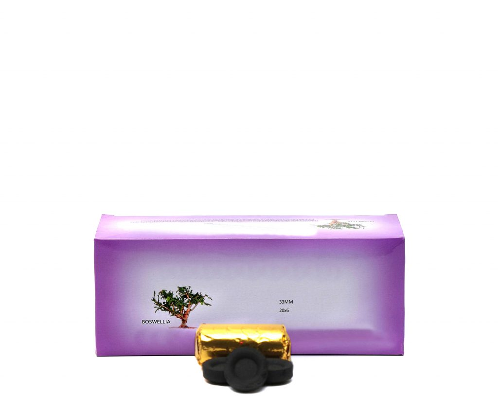 Carboncino accensione rapida astuccio viola scuro 120 pezzi 2
