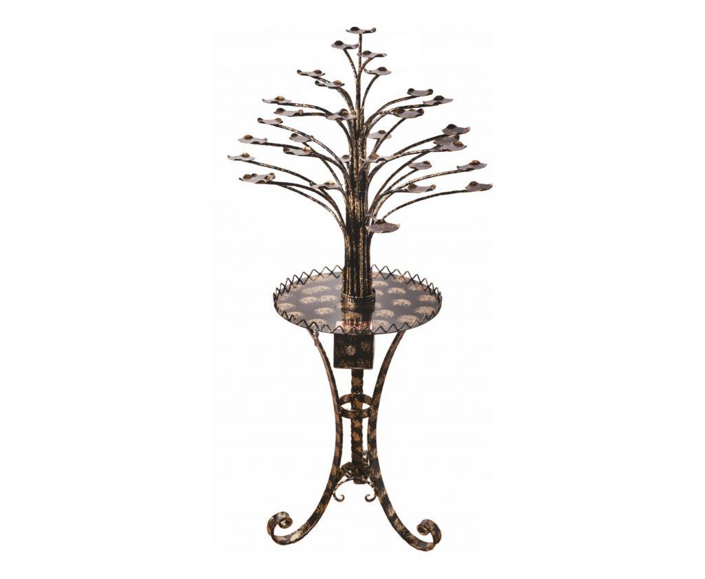 Porta lumino a forma di albero in ferro battuto 33 rami