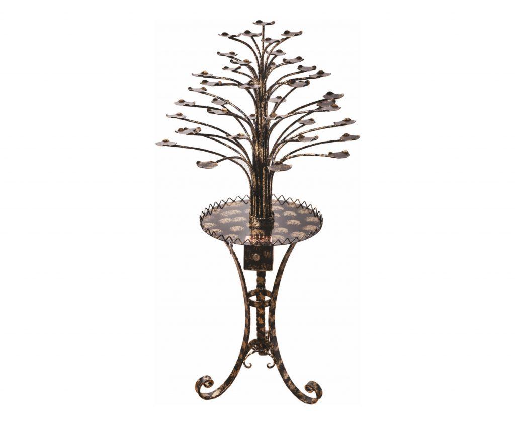 Porta lumino a forma di albero in ferro battuto 41 rami
