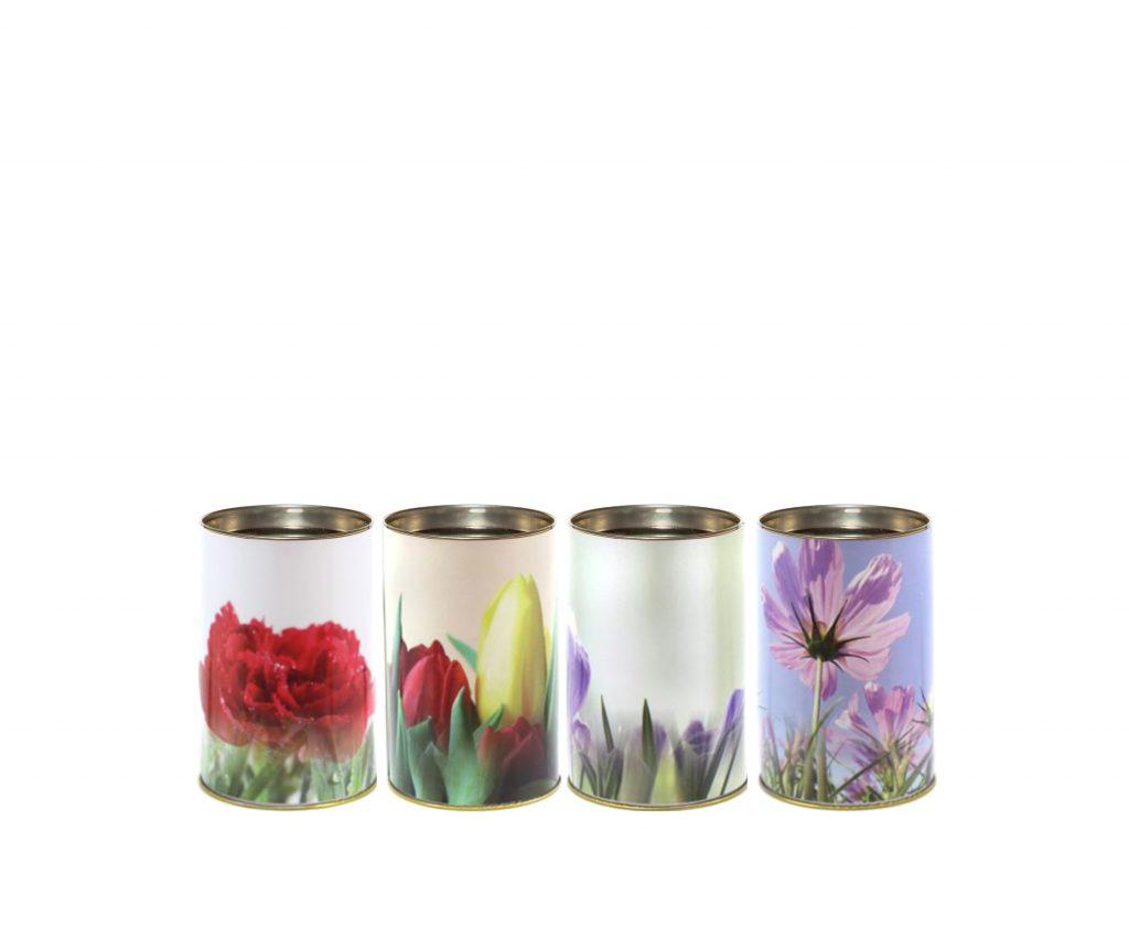 T30 ecologico fiori lumino cera lumino ecologico floreale