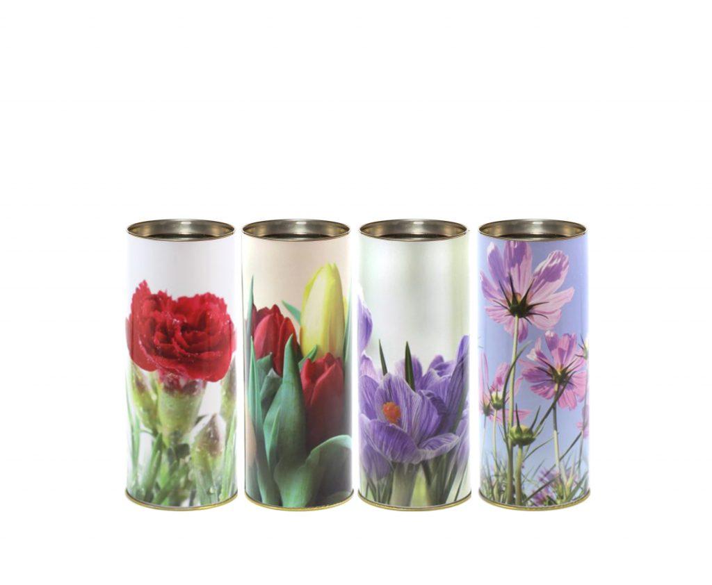 T40 ecologico fiori lumino cera lumino ecologico floreale