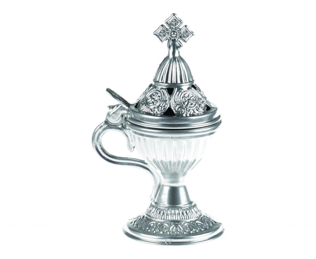 brucia incenso argento