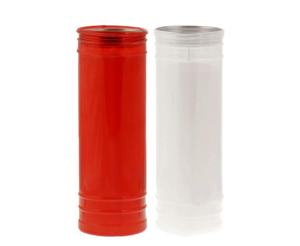 lumino votivo T100 rosso e bianco