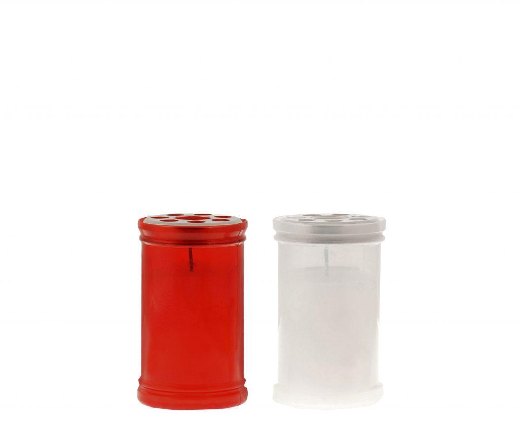 lumino votivo T30 rosso e bianco