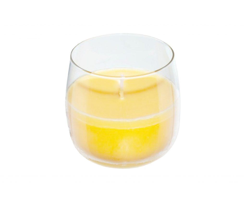 candela vetro vaniglia
